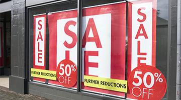For sale vinyl window decals
