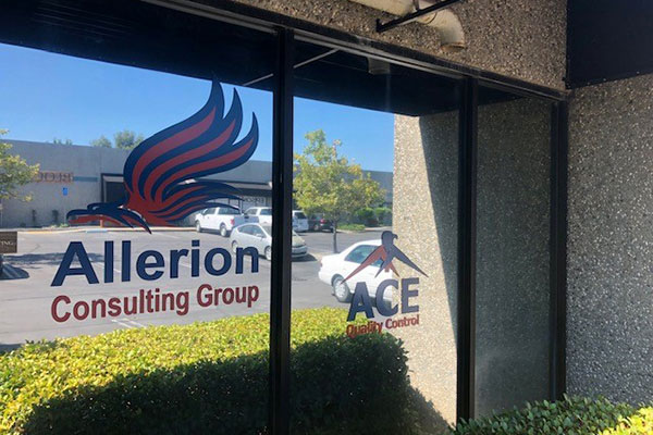 Storefront window graphics for Allerion by 4 Directions