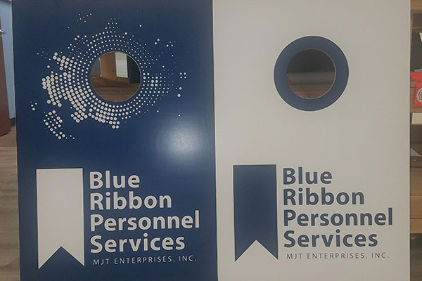 Blue Ribbon Personal Services Banners by 4 Directions