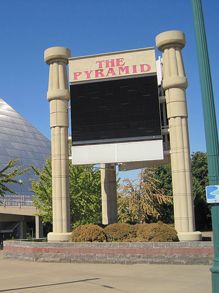 The Pyramid – Post and Panel Signage in Folsom & Sacramento