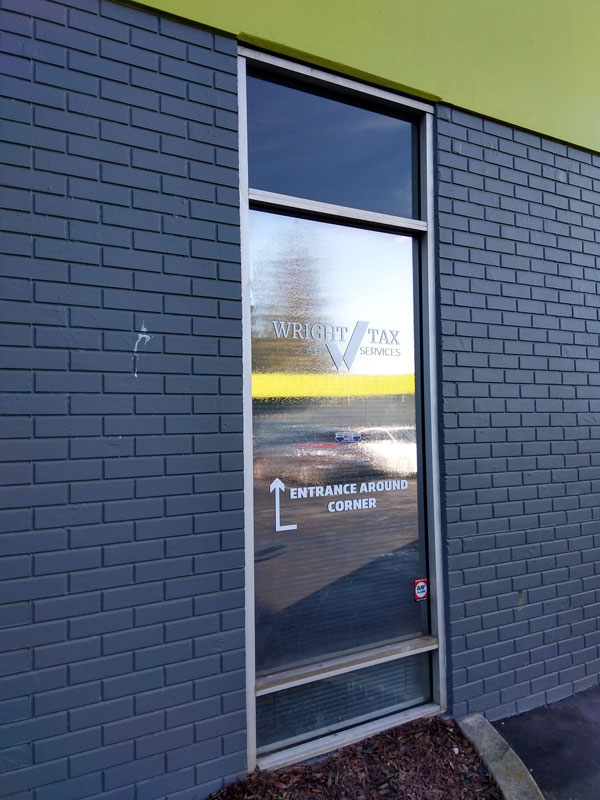 Business window graphics by 4 Directions Signs & Graphics