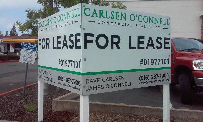 Commercial realtor signage in Folsom, CA