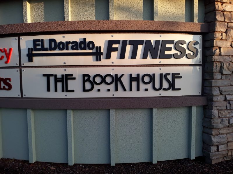 Custom outdoor signage for The Book House in Folsom, CA