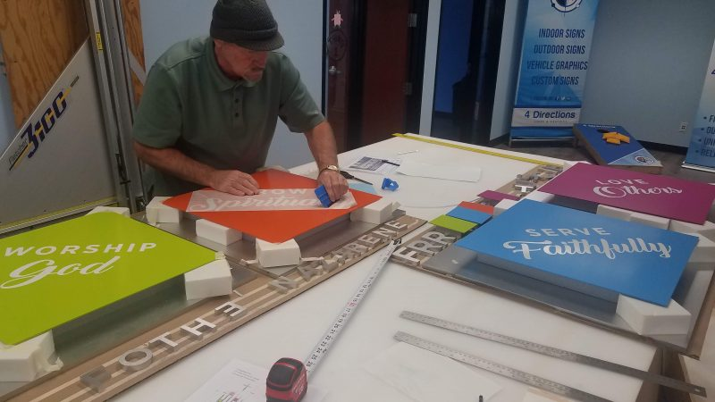 Custom sign making at 4 Directions Signs & Graphics