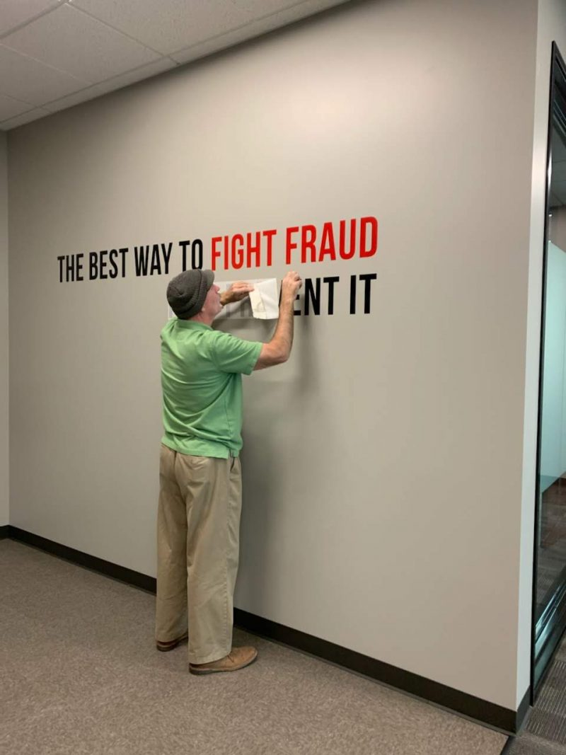 Custom wall graphics for business