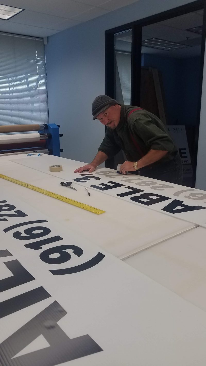 Signs manufacturing process at 4 Directions Signs & Graphics