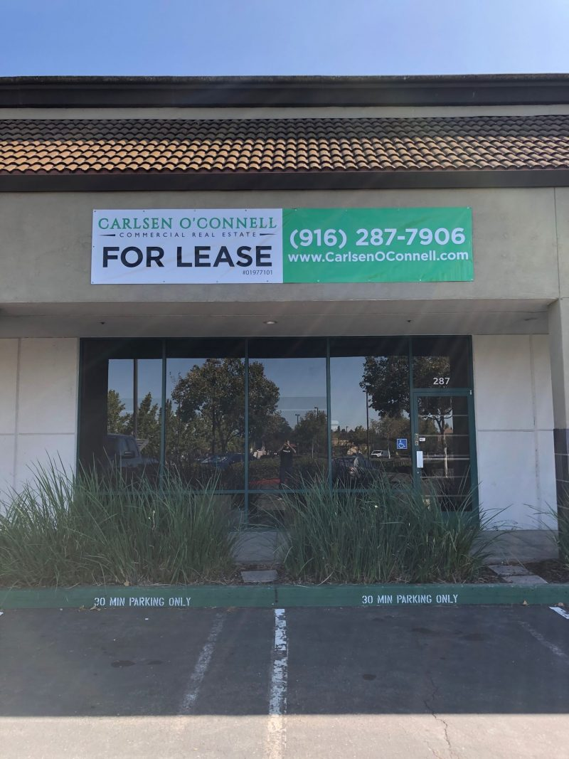 Storefront signage and graphics in Folsom, CA