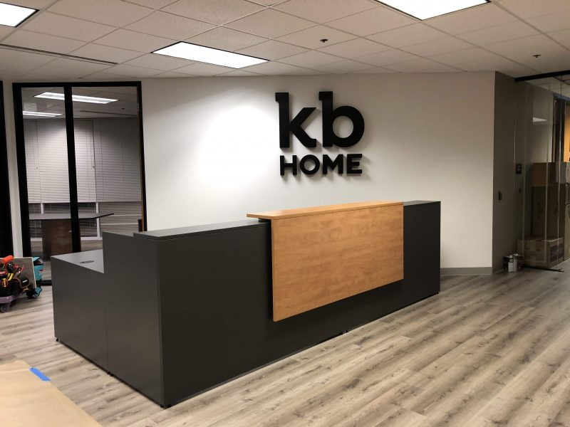 kb HOME lobby signage by 4 Directions Signs & Graphics