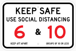 Keep safe use social distancing banners