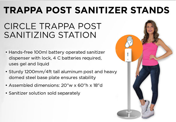 Circle Trappa Post Sanitizing Station