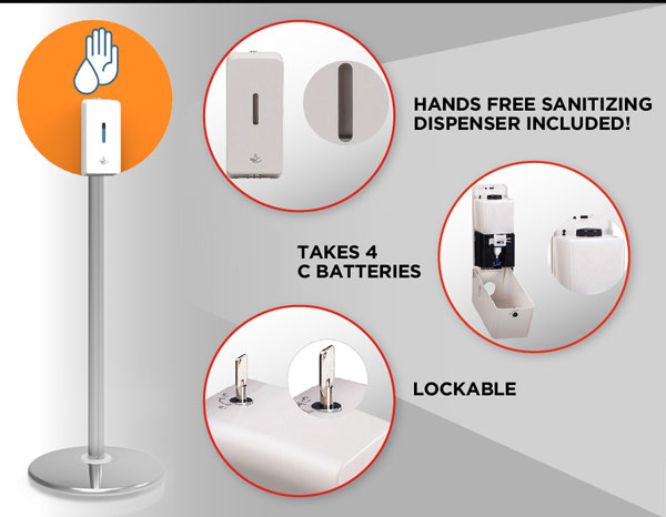 hands free sanitizer by 4 Directions