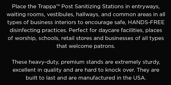 Trappa Sanitazing Stations