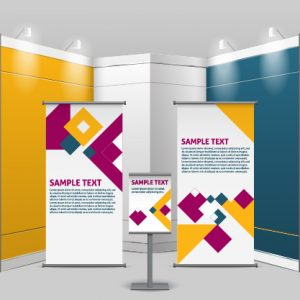 Custom trade show supplies for business advertisement