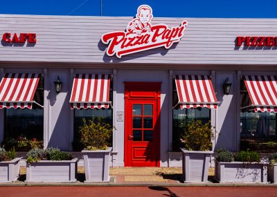 Pizza Papi exterior signage and graphics
