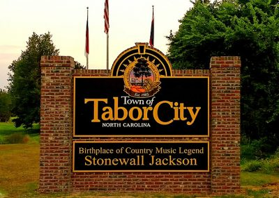 Tabor City Brick Monument Signage