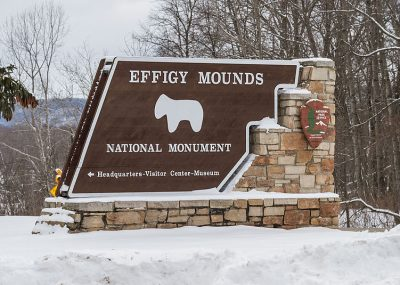 Commercial monument signage for Effigy Mounds