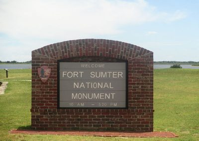 Custom brick monument signs for Fort Sumter