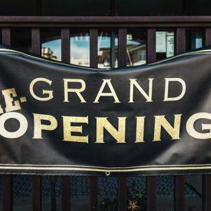 Vinyl printed banner for Grand Opening