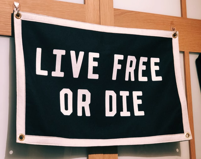 Live Free or Die Flag Banner