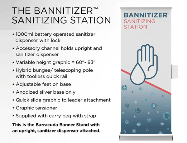 The bannitizer sanitizing station