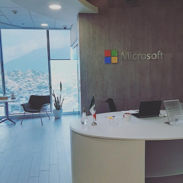 Microsoft Lobby Signs